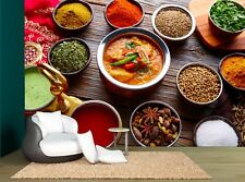 Indian Recipe Spices Restaurant Food Wall Mural Photo Wallpaper GIANT WALL DECOR