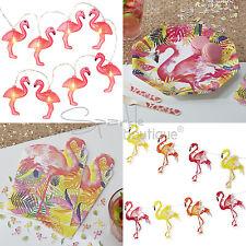 Tropical Flamingo Party Set-PIATTI, TOVAGLIOLI, Bunting & Stringa Luci-BBQ / Luau