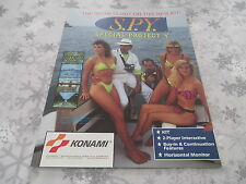 >> S.P.Y. KONAMI OFFICIAL ARCADE ORIGINAL USA HANDBILL FLYER CHIRASHI! <<