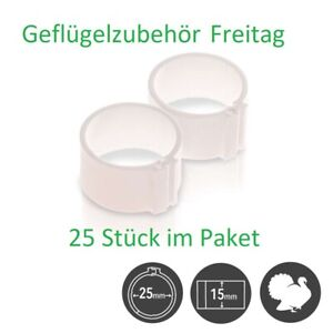 Puten/Gänse Ringe D25mm  25 Stück pro Packung