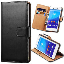 Leather Wallet Flip Stand Case Cover for Sony Xperia Z5