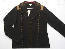 VENARIO - Damen Walk-Jacke in Braun, Gr. M, 100% Wolle