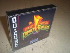 Mighty Morphin Power Gama. SEGA MEGA CD PAL. Vacía Estuche + incrustaciones de recambio solo.