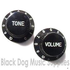 Guitar knob 1-10 tone volume any combination -T,V,TV,TTV black,white,Ivory strat