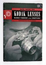 197029 Kodak Lenses, Rangefinders and Shutters Reference Book 1945-46 Genuine