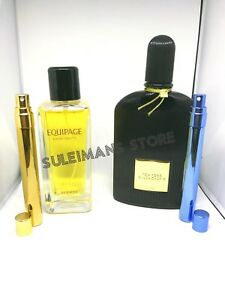 Hermes Equipage cologne and Tom Ford Black Orchid 2 PERFUMES - easy carry vials!