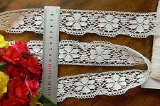 Cluny Cotton Edge Lace OFF WHITE - 42mm wide 5 Metre Lengths - L3031