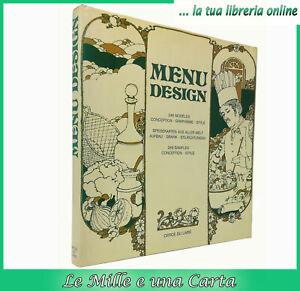 Libro di Schmidt MENU DESIGN office du livre arte dei menù da collezione cucina