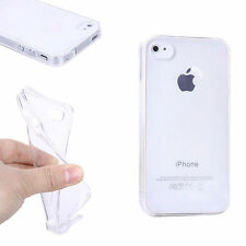 COQUE HOUSSE SILICONE GEL TRANSPARENTE POUR IPHONE 4 / 4S + FILM PROTECTION