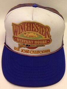 Vtg. Winchester Mystery House Truckers Mesh Snapback Cap Hat