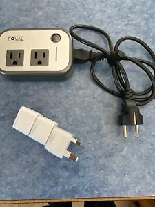 FOVAL 200W Travel Adapter And Power Converter 100-240V AC Input 4 USB
