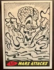 TOPPS MARS ATTACKS SKETCH CARD 2012 JOE SIMKO Signed One Of A Kind