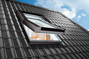 AFG Kunststoff - Dachfenster TOP SKYLIGHT mit Eindeckrahmen mit Rolloaktion NEU!
