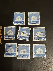 Jefferson Memorial US Stamp We Hold These Truths 10c Lot Of 8 Used  - #3926