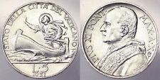 5 LIRE 1931 PIO PIUS XI CITTA' DEL VATICANO VATICAN CITY ARGENTO SILVER #6252A