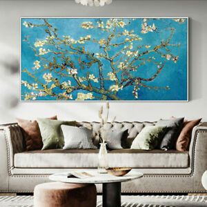 LL378 Van gogh Almond tree in blossom oil painting Hand-painted copy Unframed