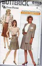 JACKET Top SKIRT Blouse Patterns Womens WARDROBE  SZ 8