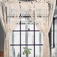 Beige Macrame Wall Hanging Tapestry Room Door Window Curtain Wedding Backdrop