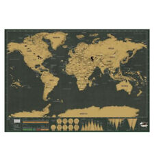 Deluxe World Map Poster Journal Log Learn Gift School 42*30CM