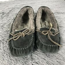 d3c302987abb UGG Australia Dakota Slippers Moccasins Black Gray Suede Women s Size 7