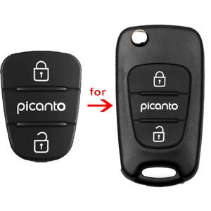 Kia Picanto 2/3 Button Rubber Pad for Remote Flip Key fob. Rubber insert repair.