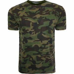New Mens Military Camouflage Camo T Shirt Army Combat Tee Summer Beach AW19 Top