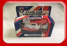 Matchbox AFL Club Car 1995 Ford Model A Sydney Swans