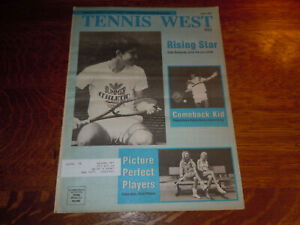 "VINTAGE JUNE 1988 LARGE NEWSPRINT "" TENNIS WEST "" MAGAZINE"