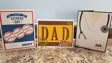 New listing 3 Handmade Father's Day Greeting Cards, Baseball, Fox, Doctor