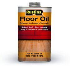 Rustins Wood Floor Oil 5 Litre Enhances the Beauty of Bare Wood Interior Floors