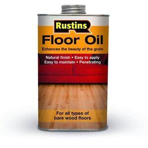 Rustins Wood Floor Oil 1 Litre Enhances the Beauty of Bare Wood Interior Floors