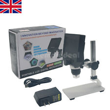"HOT LED Digital Microscope 4.3"" LCD 3.6MP OLED G600 1-600X Magnification UK"