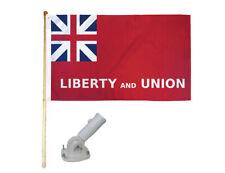 New listing 5' Wood Flag Pole Kit Nylon White Bracket 3x5 Taunton Liberty & Union Poly Flag