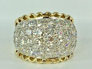 4.00 ct NATURAL DIAMOND mens ring pinky SOLID 14k yellow GOLD ( vs quality)