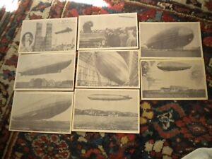 8---1930S--GERMAN-GRAF ZEPPELIN--POSTCARD SET