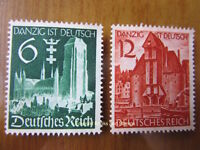 EBS Germany 1939 - Danzig absorbed into Reich - Michel 714-715 MNG (*)