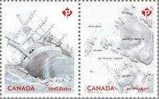 HMS EREBUS = FRANKLIN EXPEDITION = Embossed SS Pair MNH Canada 2015 #2852a