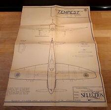 """Hawker """"Tempest"""" - Modèle réduit - Avion - Plan de Coupe / Assemblage / Montage"""