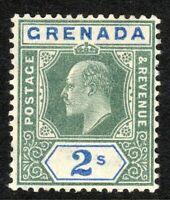 Grenada 1904 green/ultramarine 2/- multi-crown CA perf 14 mint SG74