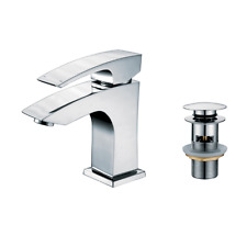 Sterling Sheer Square Basin Mixer With Pop Up Waste (AD-5511C)