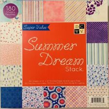 DCWV Summer Dream Stack Scrapbooking 143 Pages 12x12 Paper Super Pack