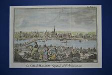 Historisches Bild von Mainz am Rhein,  Kupferstich ca. 1750 mit Passepartout
