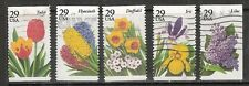 SPRING GARDEN FLOWERS #2760-2764 Used US 1993 Commemorative 29c Stamp Set