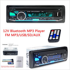 Bluetooth Car Stereo Radio In-Dash Head Unit Player Handsfree FM MP3/USB/SD/AUX