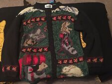 WOMEN'S SIGNATURE NORTHERN ISLES HAND KNITTED UGLY WINTER CHRISTMAS SWEATER L