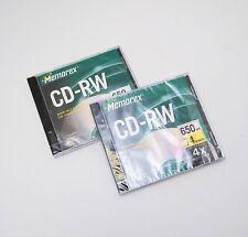 Memorex CD-RW 650mb 74 Minutes (2 discs) New Sealed
