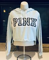 VS Victoria's Secret Pink women's XS Tiffany Blue pullover crop top hoodie
