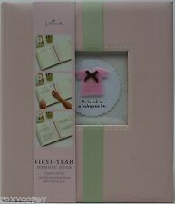 Hallmark Baby First Year Pink Sweet & Soft Baby Girl Memory Book Nwt