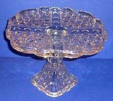 EAPG  ~ Adams Glass ~ Daisy & Button w/ Thumbprint Panel ~ Cake Stand