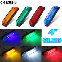 "6 LED 4"" Side Marker Indicator Front Rear Light Truck Trailer Lorry Bus Lamp 12V"